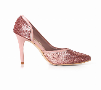 SEQUIN ROSE STILETTO