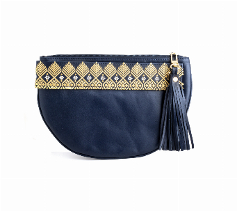 Clutch Gold & Blue