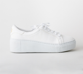Zapatillas Wedge blanco