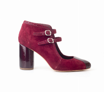 BOTIN STILETTO BURGUNDY