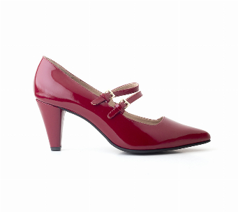 STILETTO DOBLE TIRA BURGUNDY