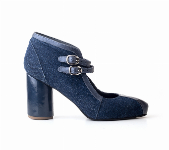 BOTIN STILETTO BLUE JEAN