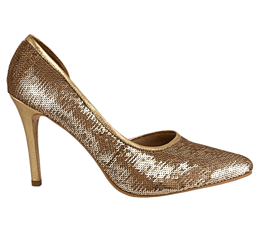 SEQUIN GOLD STILETTO