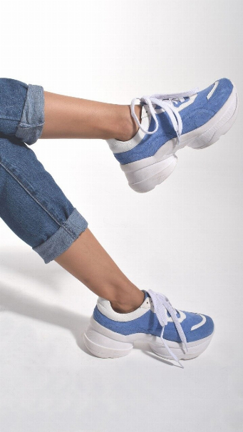 SNEAKERS ALESSIA LIGHT BLUE - PRE ORDER